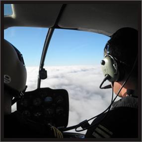 Imagen de los pilotos en vuelo